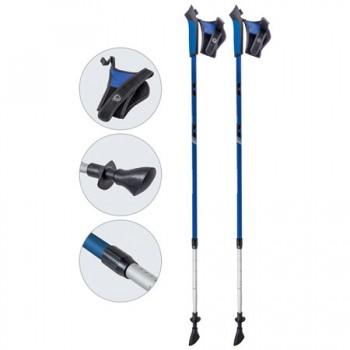 Палки для скандинавской ходьбы Ecos AQD-B020 blue телескопические