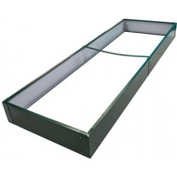 Ограждение для грядок металлическое прямоугольное Country C CPG-180 2000х650х180мм