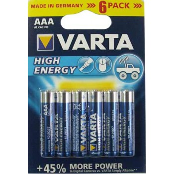 Батарейка Varta High Energy (AAA) LR03-BL6/1.5V (6 шт. в уп.)