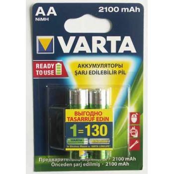 Аккумулятор Varta (AA) R2U 2100 мА/ч (2 шт. в уп.)