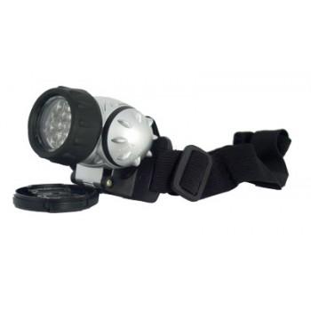 Фонарь налобный (LED-19) светодиодный пластмассовый круглый