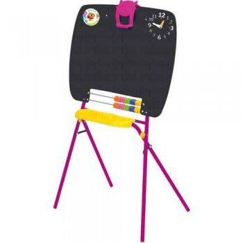 Мольберт детский односторонний Ника М (цвет каркаса - Сиреневый) для рисования мелками
