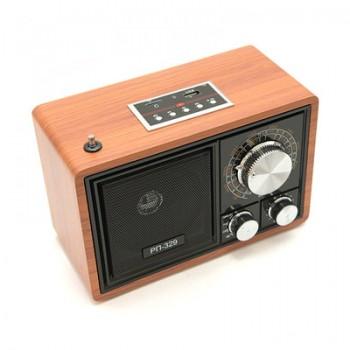 Радиоприёмник БЗРП Сигнал РП-329 УКВ/СВ/КВ, сеть/R20*3 (не в комп.), разъем USB/microSD