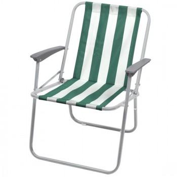Кресло складное Ника КС4 Цвет-Зелёно-белый