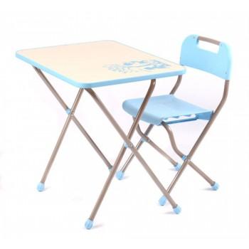 Комплект детской мебели Ника КПР/1 (для 3-7 лет) Ретро бежевый с голубым
