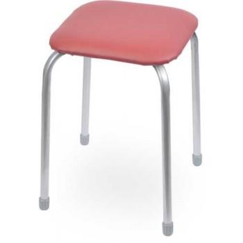 Табурет Ника Классика ТК03 (тёмно-красный) на 4-х опорах, сиденье квадрат 320х320мм, фанера, винилискожа