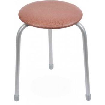Табурет Ника Классика ТК01 (коричневый) на 3-х опорах, сиденье круглое 310мм, фанера, винилискожа