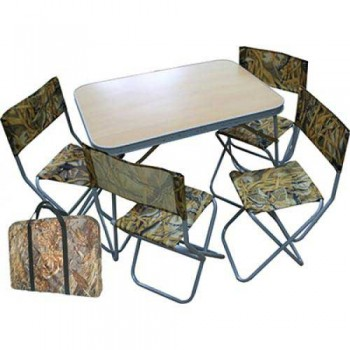 Набор туристический Алабия Пикник (стол 800х580мм+4 стула со спинкой) в сумке