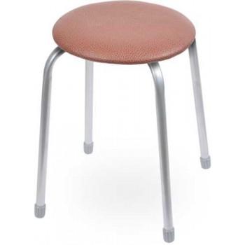 Табурет Ника Классика ТК02 (коричневый) на 4-х опорах, сиденье круглое 320мм, фанера, винилискожа