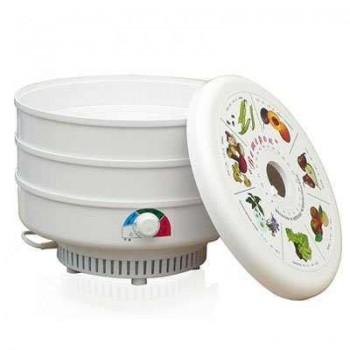 Сушилка для овощей и фруктов Ветерок (электросушилка 3 белых поддона, цветная упаковка)