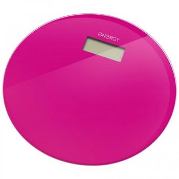 Energy EN-420 RIO (стекло) Электронные напольные весы до 180кг, форма-круг, цикламен