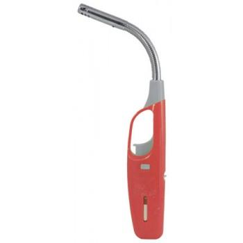 Зажигалка ECOS 68L-R с газом на пьезоэлементе с гибким стержнем, красная (157817)