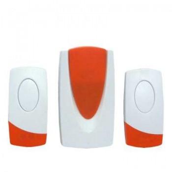 звонок беспроводной QH-230, с двумя кнопками, (не менее 80м), 220V, 24 мелодии