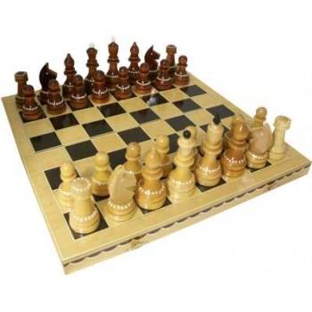 Шахматы деревянные Турнирные инкрустированные С-6а в комплекте с доской