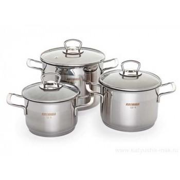 Набор посуды Катюша 111 нержавеющая сталь 6 предметов (2,4/3,4/4,2л.)
