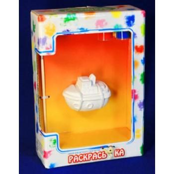 Набор для детского творчества РАСКРАСЬ-КА Форма ТРАНСПОРТ-КОРАБЛИК (в пакете)