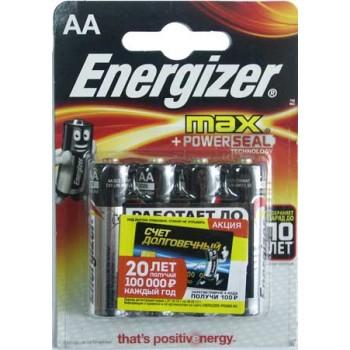 Батарейка Energizer Max (AA) LR06-BL4/1.5V (4 шт. в уп.)