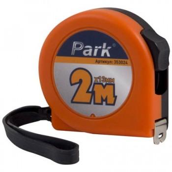 Рулетка Park с фиксатором, пластиковый корпус 2м х13мм, ТМ24-2013