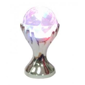 Цветомузыкальная установка Рука со сферой, вращающаяся с подставкой