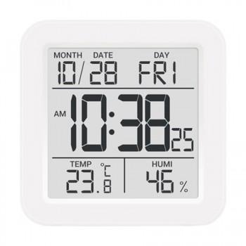 Метеостанция цифровая Стеклоприбор Т-15. Функции: термометр (температура внутри), гигрометр, часы, будильник, календарь
