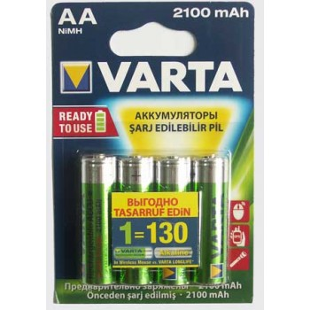 Аккумулятор Varta (AA) R2U 2100 мА/ч (4 шт. в уп.)