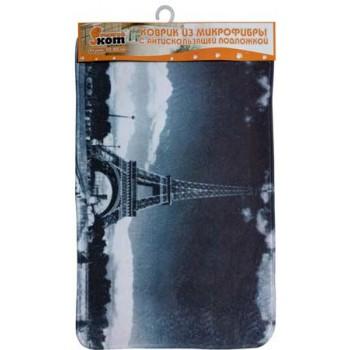 Коврик из микрофибры MatBW-Eiffel Эйфелева башня, размер 50*80 см