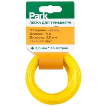 Леска нейлон для триммеров PARK 2.0мм 15м круг (990585)