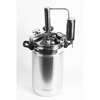 Домашний автоклав Домашний погребок 2 в 1 на 22л (нагрев на газу) нержавеющая сталь, проточный