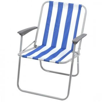 Кресло складное Ника КС4 Цвет-Сине-белый