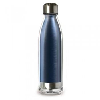 Термобутылка Asobu Viva La Vie 525 мл, нержавеющая сталь, крышка-пробка, синяя