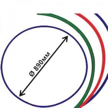 Обруч гимнастический пластмассовый диаметр 890 мм Владспортпром