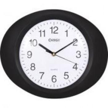 Часы настенные кварцевые Energy EC-04 овальные (33*4.5 см) белый циферблат (009304)
