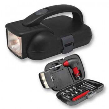 Набор инструментов Irit IR-104H (24 предмета) в кейсе с фонарем