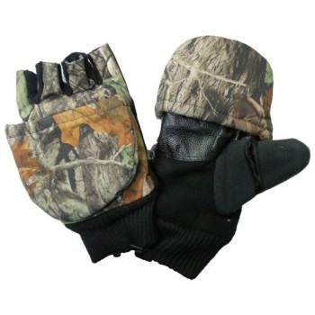 Перчатки для рыбалки № 2 (осень) камуфлированные с магнитом