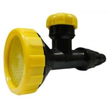 Насадка для полива универсальная НПУ-400М Душ (для установки на шланг, с краном, пластик, 981529)