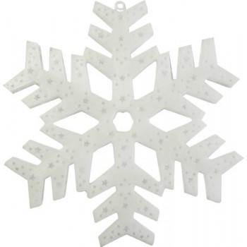 Фигура на стену с подсветкой-снежинка