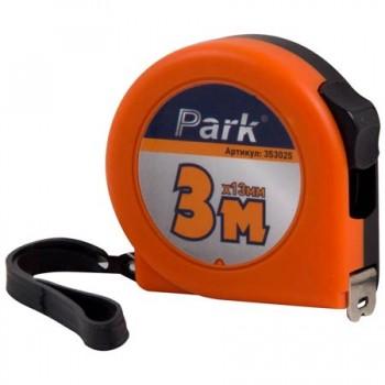 Рулетка Park с фиксатором, пластиковый корпус 3м х13мм, ТМ25-3013
