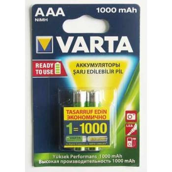 Аккумулятор Varta (AAА) R2U 1000 мА/ч (2 шт. в уп.)