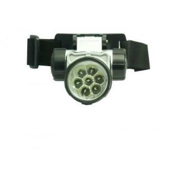 Фонарь налобный (LED-7) светодиодный пластмассовый круглый