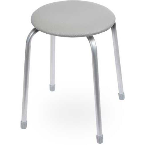 Табурет Ника Классика ТК02 (серый) на 4-х опорах, сиденье круглое 320мм, фанера, винилискожа