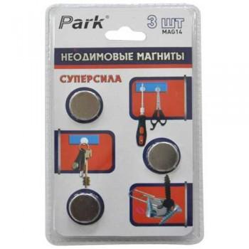 Park Неодимовые редкоземельные магниты 3 шт, 3000 Гс MAG14
