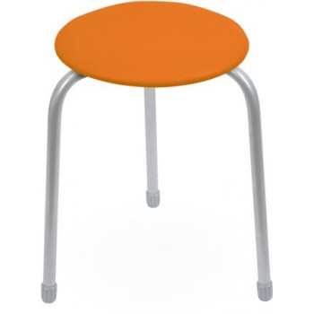 Табурет Ника Классика ТК01 (оранжевый) на 3-х опорах, сиденье круглое 310мм, фанера, винилискожа