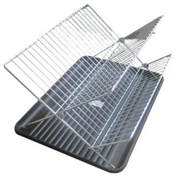 Сушилка для посуды Irit IRE-07 хром. сталь (2 уровня) 43х32х25 см