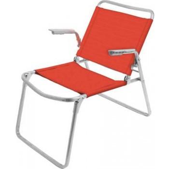 Кресло-шезлонг складное Ника К1 Цвет - Гранатовый