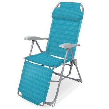 Кресло-шезлонг складное Ника К3 Цвет - Бирюзовый