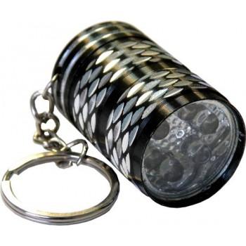 Фонарь брелок (LED-6) светодиодный металлический (Бочка)