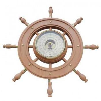Барометр УТЕС БНТ ШТУРВАЛ-2 с термометром (сувенирный, корпус-бук) г.Ульяновск