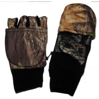 Перчатки для рыбалки № 3 (осень) камуфлированные на липучке