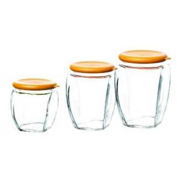 Glasslock Набор контейнеров IG-674 для сыпучих продуктов 3 шт (350+500+815мл)