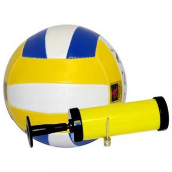 Мяч волейбольный и насос BL-5007 (№5, 3 цвет., машин. строчка, ПВХ) 998104
